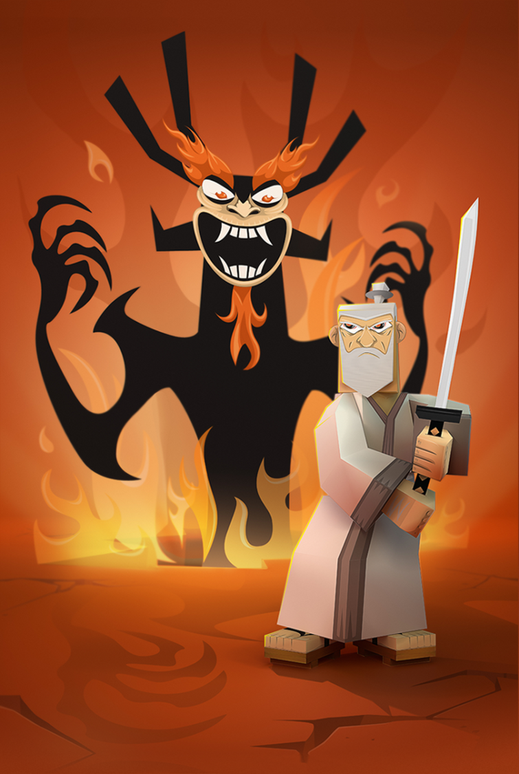 fanart, tribute to Samurai Jack